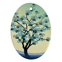 Branches Field Flora Forest Fruits Ornament (oval)