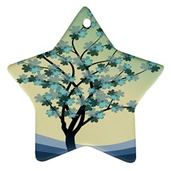 Branches Field Flora Forest Fruits Ornament (star)