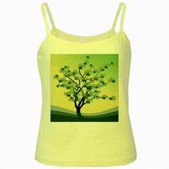 Branches Field Flora Forest Fruits Yellow Spaghetti Tank
