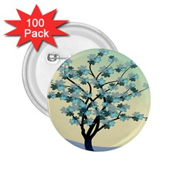 Branches Field Flora Forest Fruits 2 25  Buttons (100 Pack)