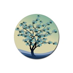 Branches Field Flora Forest Fruits Rubber Coaster (round)