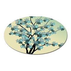 Branches Field Flora Forest Fruits Oval Magnet