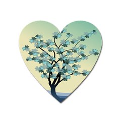 Branches Field Flora Forest Fruits Heart Magnet