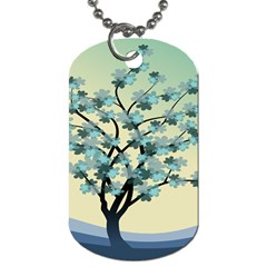 Branches Field Flora Forest Fruits Dog Tag (one Side)