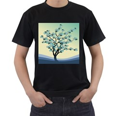 Branches Field Flora Forest Fruits Men s T Shirt (black) (two Sided)