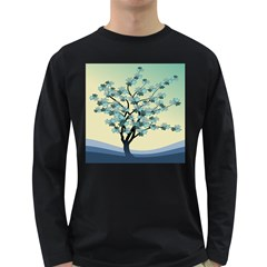 Branches Field Flora Forest Fruits Long Sleeve Dark T Shirts