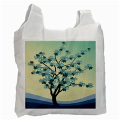 Branches Field Flora Forest Fruits Recycle Bag (two Side)