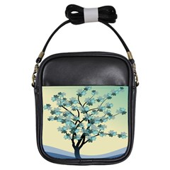 Branches Field Flora Forest Fruits Girls Sling Bags