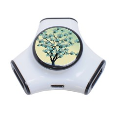 Branches Field Flora Forest Fruits 3 Port Usb Hub