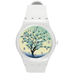 Branches Field Flora Forest Fruits Round Plastic Sport Watch (m)