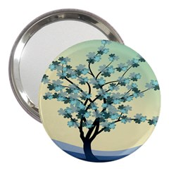 Branches Field Flora Forest Fruits 3  Handbag Mirrors