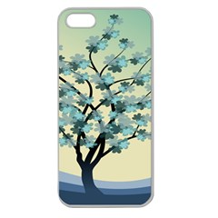 Branches Field Flora Forest Fruits Apple Seamless Iphone 5 Case (clear)