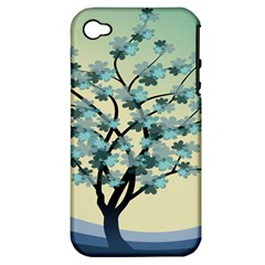Branches Field Flora Forest Fruits Apple Iphone 4/4s Hardshell Case (pc+silicone)