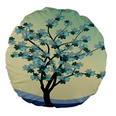 Branches Field Flora Forest Fruits Large 18  Premium Round Cushions