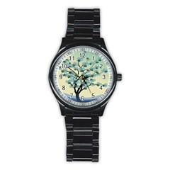 Branches Field Flora Forest Fruits Stainless Steel Round Watch