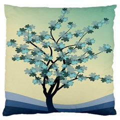 Branches Field Flora Forest Fruits Large Flano Cushion Case (two Sides)