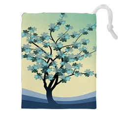 Branches Field Flora Forest Fruits Drawstring Pouches (xxl)