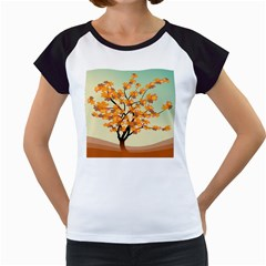 Branches Field Flora Forest Fruits Women s Cap Sleeve T