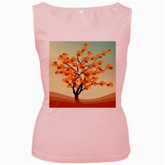 Branches Field Flora Forest Fruits Women s Pink Tank Top