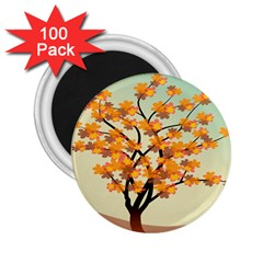 Branches Field Flora Forest Fruits 2 25  Magnets (100 Pack)