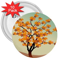 Branches Field Flora Forest Fruits 3  Buttons (10 Pack)