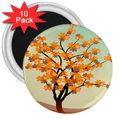 Branches Field Flora Forest Fruits 3  Magnets (10 Pack)