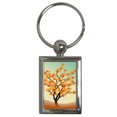 Branches Field Flora Forest Fruits Key Chains (rectangle)