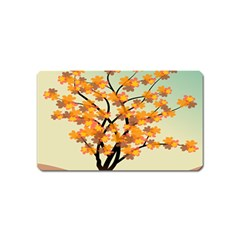 Branches Field Flora Forest Fruits Magnet (name Card)