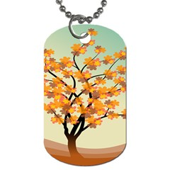 Branches Field Flora Forest Fruits Dog Tag (two Sides)