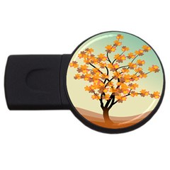 Branches Field Flora Forest Fruits Usb Flash Drive Round (2 Gb)