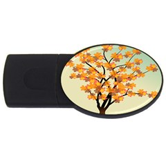 Branches Field Flora Forest Fruits Usb Flash Drive Oval (4 Gb)