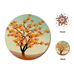 Branches Field Flora Forest Fruits Playing Cards (round)