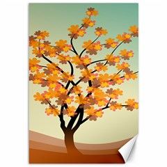 Branches Field Flora Forest Fruits Canvas 12  X 18
