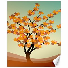 Branches Field Flora Forest Fruits Canvas 16  X 20