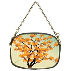 Branches Field Flora Forest Fruits Chain Purses (one Side)