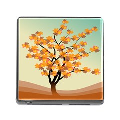 Branches Field Flora Forest Fruits Memory Card Reader (square)