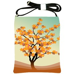 Branches Field Flora Forest Fruits Shoulder Sling Bags