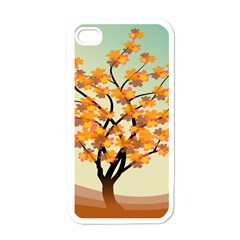 Branches Field Flora Forest Fruits Apple Iphone 4 Case (white)