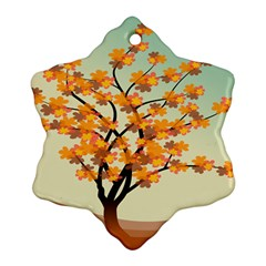 Branches Field Flora Forest Fruits Ornament (snowflake)