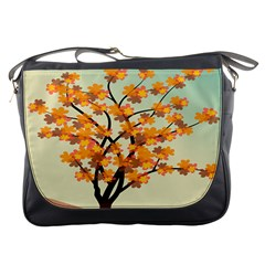 Branches Field Flora Forest Fruits Messenger Bags