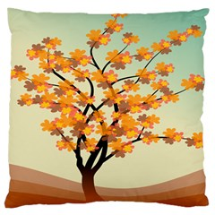 Branches Field Flora Forest Fruits Large Cushion Case (two Sides)