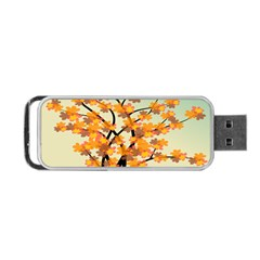 Branches Field Flora Forest Fruits Portable Usb Flash (one Side)