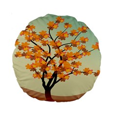 Branches Field Flora Forest Fruits Standard 15  Premium Round Cushions