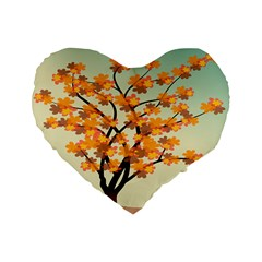 Branches Field Flora Forest Fruits Standard 16  Premium Heart Shape Cushions
