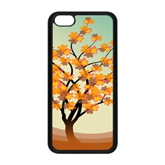 Branches Field Flora Forest Fruits Apple Iphone 5c Seamless Case (black)