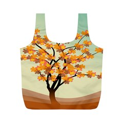 Branches Field Flora Forest Fruits Full Print Recycle Bags (m)