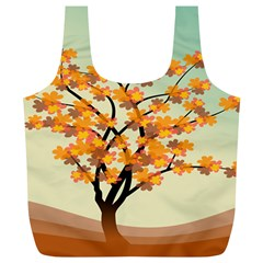 Branches Field Flora Forest Fruits Full Print Recycle Bags (l)