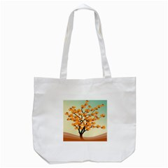 Branches Field Flora Forest Fruits Tote Bag (white)