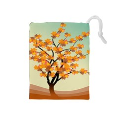 Branches Field Flora Forest Fruits Drawstring Pouches (medium)