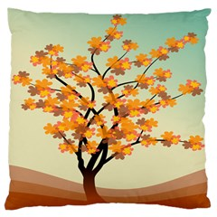 Branches Field Flora Forest Fruits Large Flano Cushion Case (one Side)